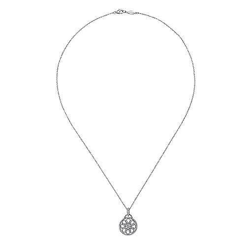 925 Silver Dia Necklace        angle 2