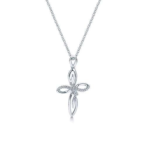Gabriel - 925 Silver Faith Cross Necklace