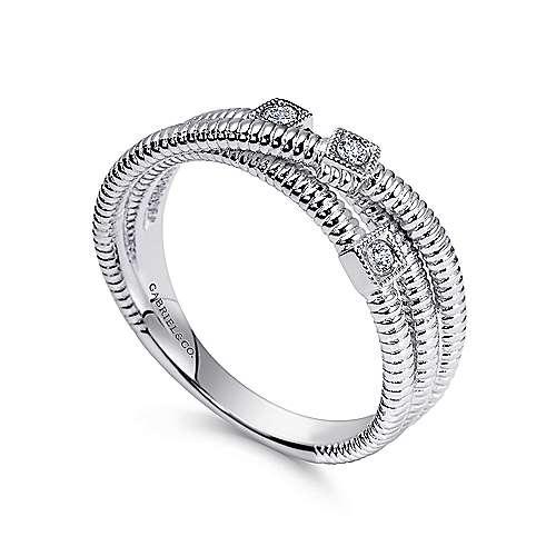 925 Silver Dia Ring            angle 3