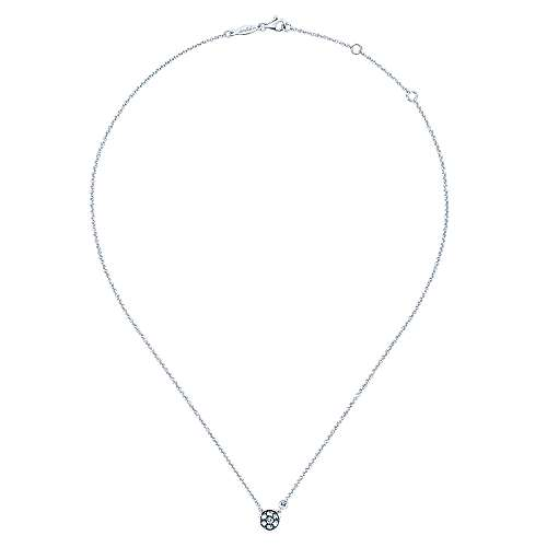925 Silver Dia WSapp Necklace angle 2