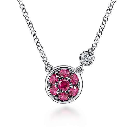 925 Silver Diamond  And Ruby Fashion