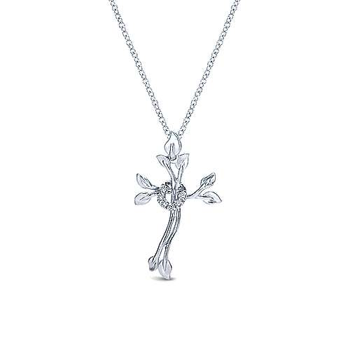 Gabriel - 925 Silver Faith Cross Necklace