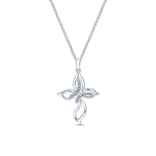 925 Silver Diamond Cross
