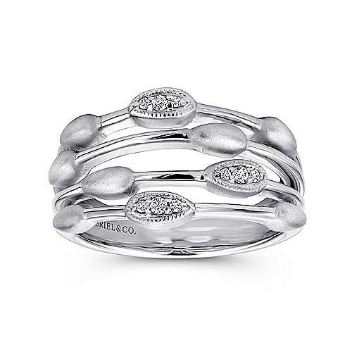 925 Silver Diamond Fashion Ladies
