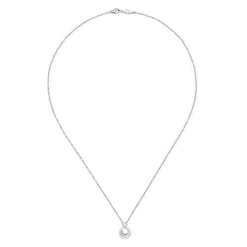 925 Silver Diamond Fashion Necklace angle 2