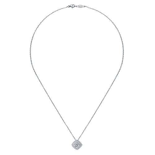 925 Silver Diamond Fashion Necklace angle 2