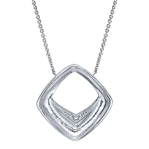 Gabriel - 925 Silver Contemporary Fashion Necklace