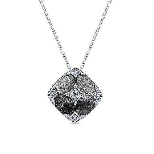 Gabriel - 925 Silver Mediterranean Fashion Necklace