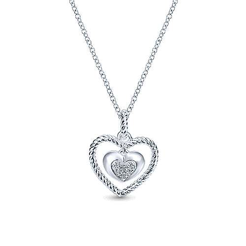 Gabriel - 925 Silver Eternal Love Heart Necklace