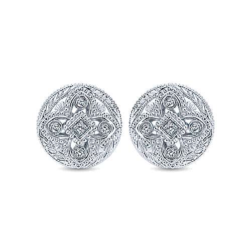 Gabriel - 925 Silver Mediterranean Stud Earrings