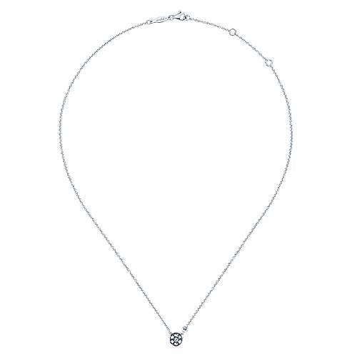 925 Silver Diamond White Sapphire Fashion Necklace angle 2