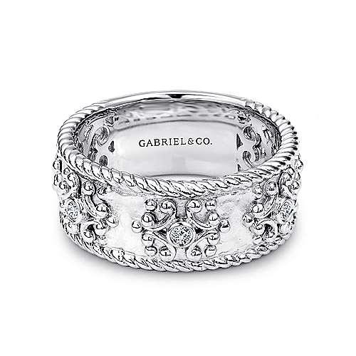 Gabriel - 925 Silver Mediterranean Wide Band Ladies' Ring