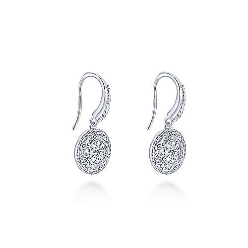 925 Silver Drop Earrings angle 2