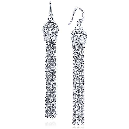 Gabriel - 925 Silver Mediterranean Drop Earrings