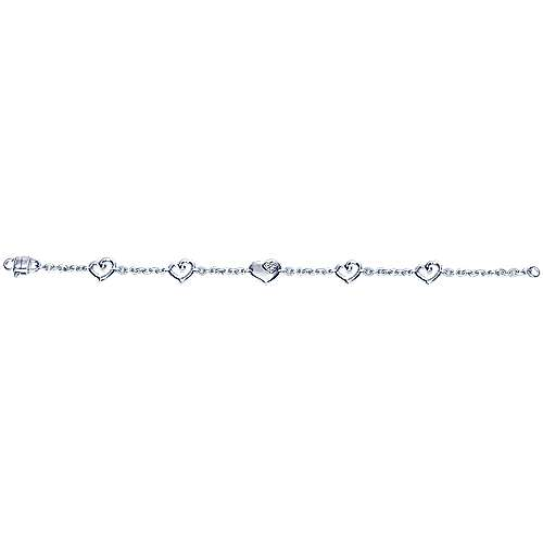 925 Silver Eternal Love Chain Bracelet angle 3