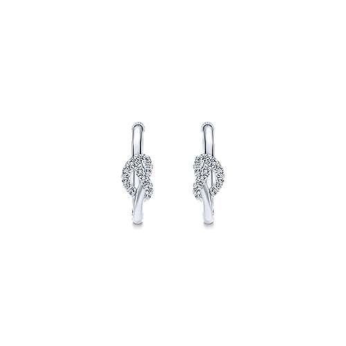 925 Silver Eternal Love Classic Hoop Earrings