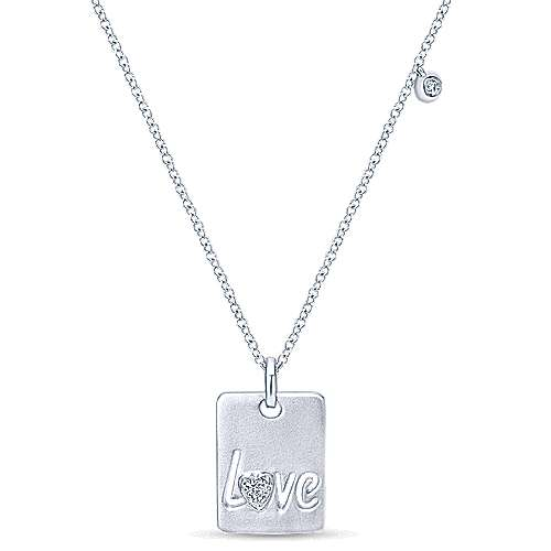 925 Silver Eternal Love Fashion Necklace angle 1