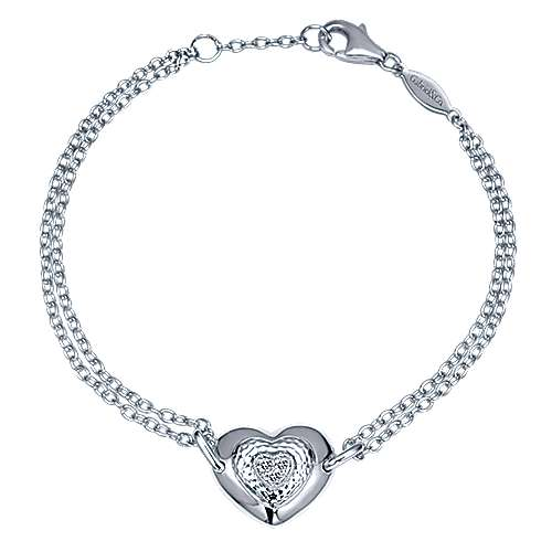 925 Silver Eternal Love Heart Bracelet angle 1