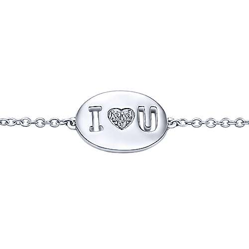 925 Silver Eternal Love Heart Bracelet angle 2
