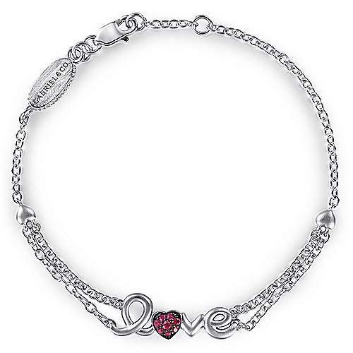 925 Silver Eternal Love Heart Bracelet