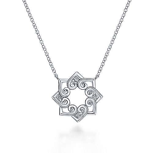 925 Silver Eternal Love Heart Necklace