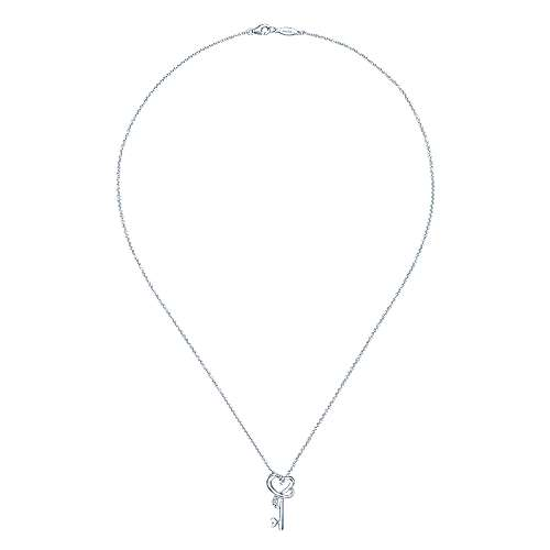 925 Silver Eternal Love Key Necklace angle 2