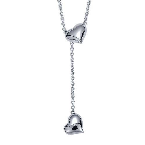 925 Silver Eternal Love Lariat Necklace angle 1