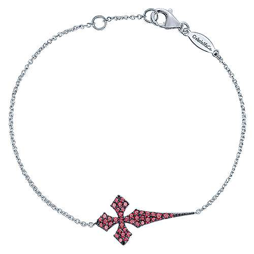 925 Silver Faith Cross Bracelet angle 1