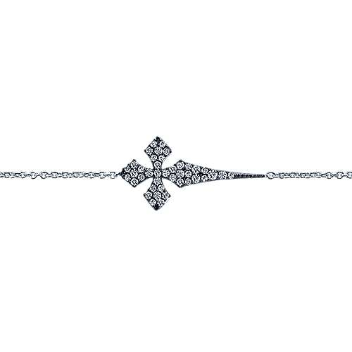 925 Silver Faith Cross Bracelet angle 2