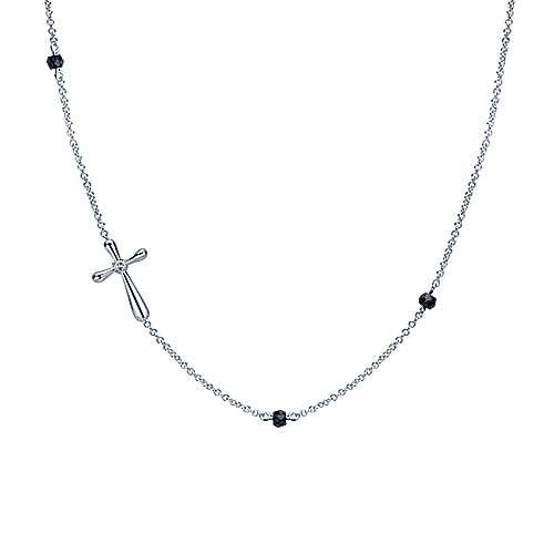 925 Silver Faith Cross Necklace angle 1