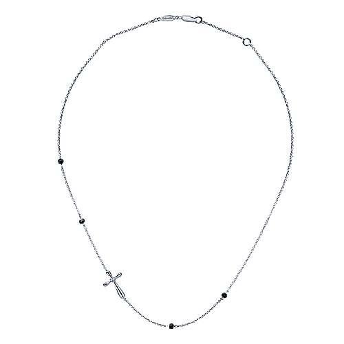 925 Silver Faith Cross Necklace angle 2