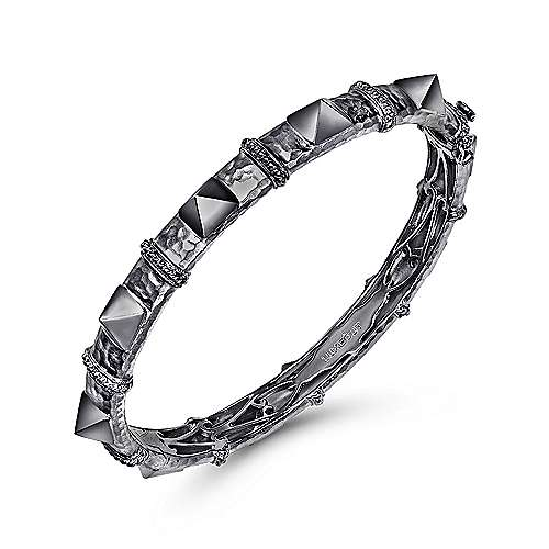 925 Silver Fierce Bangle angle 2