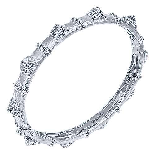 925 Silver Fierce Bangle angle 2