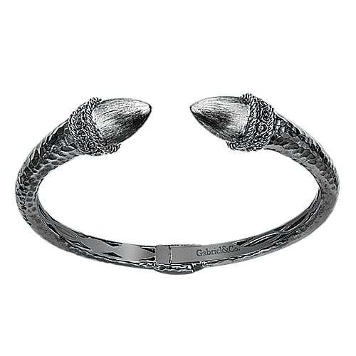 925 Silver Fierce Bangle angle 1