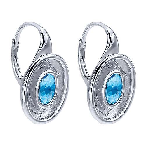 925 Silver Floral Drop Earrings angle 2