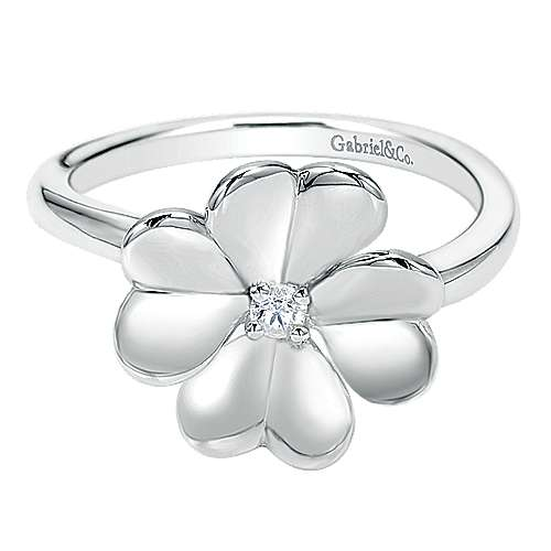 Gabriel - 925 Silver Floral Fashion Ladies' Ring