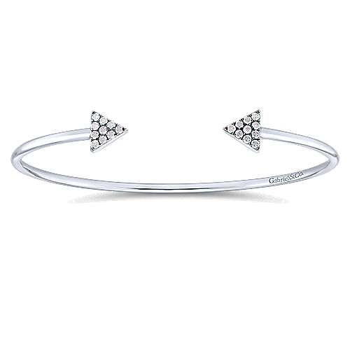 Gabriel - 925 Silver Front Row Bangle