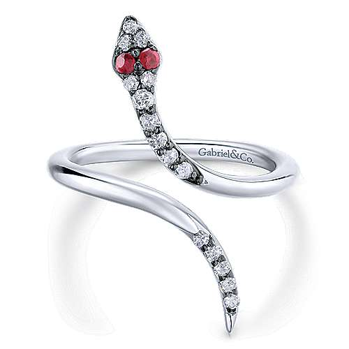925 Silver Front Row Fashion Ladies' Ring angle 1