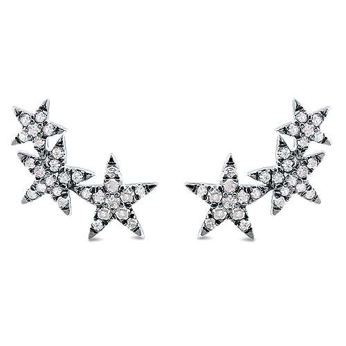 925 Silver Front Row Stud Earrings angle 1