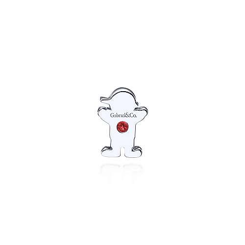 925 Silver Garnet Locket Charm Pendant angle 2