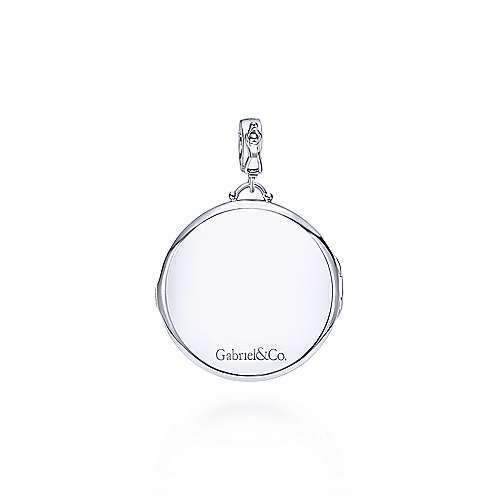 925 Silver Glass Locket Pendant angle 2