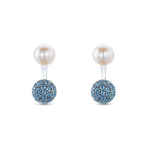 925 Silver Grace Peek A Boo Earrings