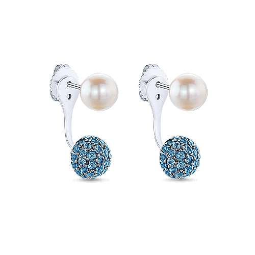 925 Silver Grace Peek A Boo Earrings angle 2