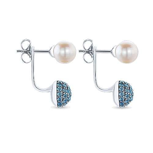 925 Silver Grace Peek A Boo Earrings angle 3