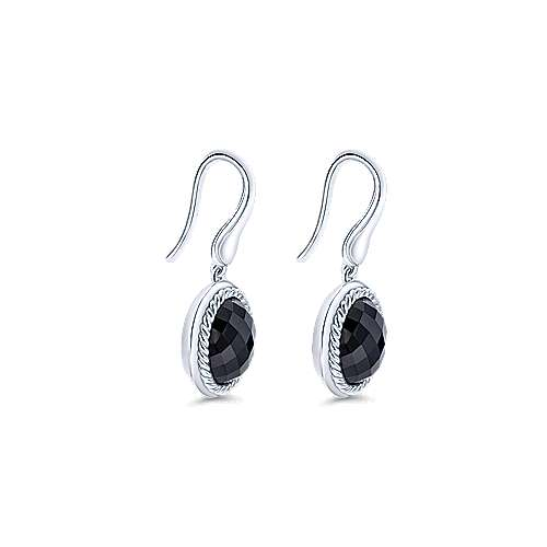 925 Silver Hampton Drop Earrings angle 2