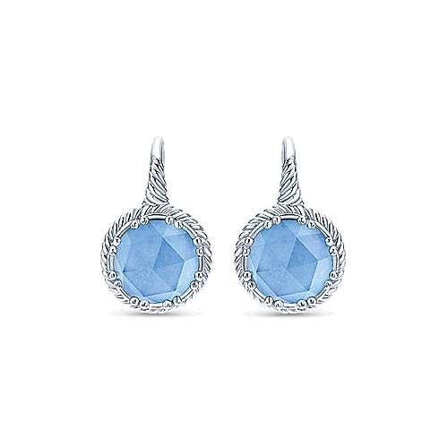 925 Silver Hampton Drop Earrings angle 1