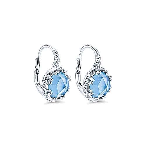925 Silver Hampton Drop Earrings angle 2