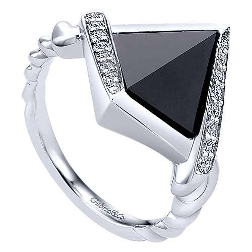 925 Silver Hampton Fashion Ladies' Ring angle 3