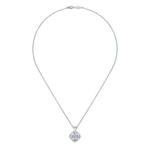 925 Silver Hampton Fashion Necklace angle 2