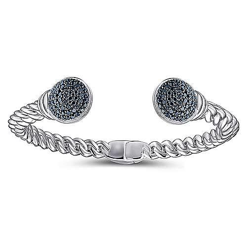 925 Silver Hampton Hinged Cuff Bangle